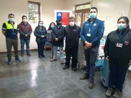 Salmones Austral y Salmones Camanchaca efectuaron una donación en equipamiento a servicios de salud de Chaitén. Foto: SalmonChile.