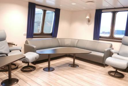 Innredningen om bord er levert av R&M Ship Interior. Foto: Kari Nøstebakken/FMV