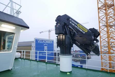 OV «Hekkingen» er utstyrt med Palfinger kraner fra Bergen Hydraulic. Foto: Kari Nøstebakken/FMV