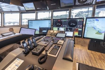 Broløsningen er levert av Kongsberg Maritime. Foto:GONDAN Shipbuilders