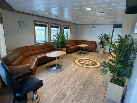 Møblene på den nye fergen er levert av Cita. Foto: Sefine Shipyard