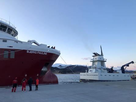 «Bjørg Pauline» er 84 meter langt, 19 meter bredt og vil ha kapasitet til å frakte over 600 tonn levende fisk. Foto: Nordlaks.