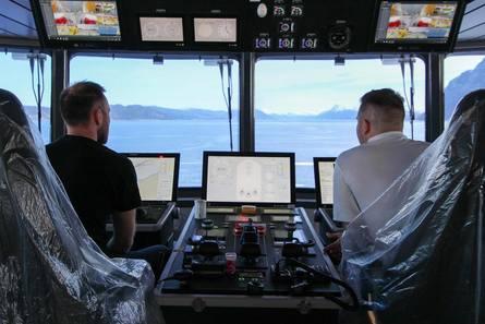 Fra broen om bord. Foto: Ulstein Group