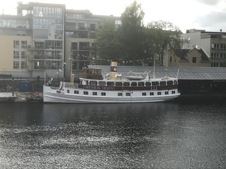 Det går daglig dampskip fra Skien til Dalen på Telemarkskanalen. Foto: Sigbjørn Larsen.
