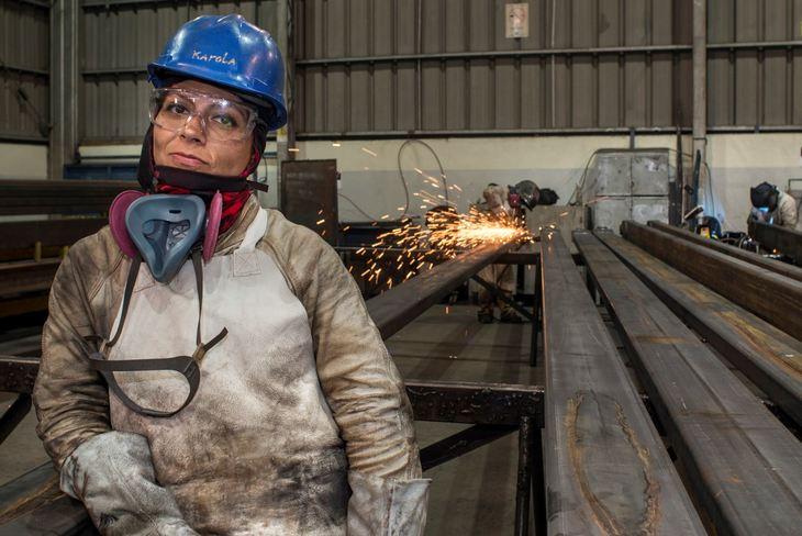 Women prove their mettle in AKVA welding workshop