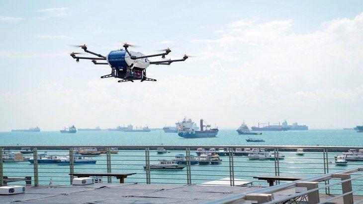 Verdens første kommersielle droneleveranse til skip