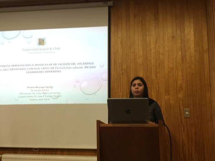 Tesis expone herramientas para evaluar patología de P. Salmonis