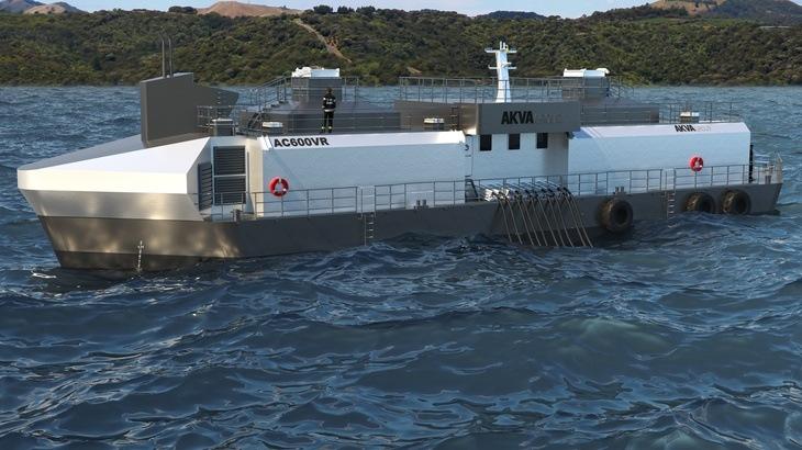Magallanes: AKVA group vende primeros pontones de alimentación full flexible