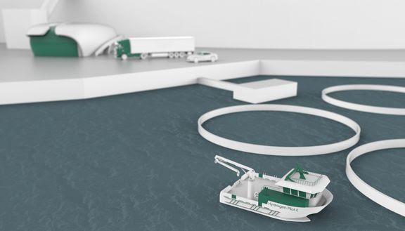 Construirán el primer barco de trabajo salmonicultor propulsado por hidrógeno