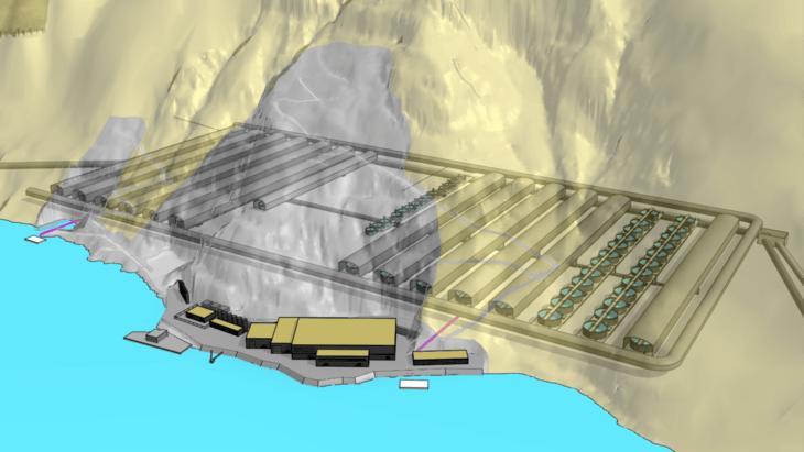 Ova contract signed for 100,000-tonne salmon farm in disused mine