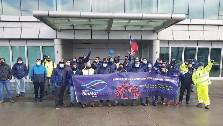 Sindicato BioMar Pargua va en su sexto día de huelga legal