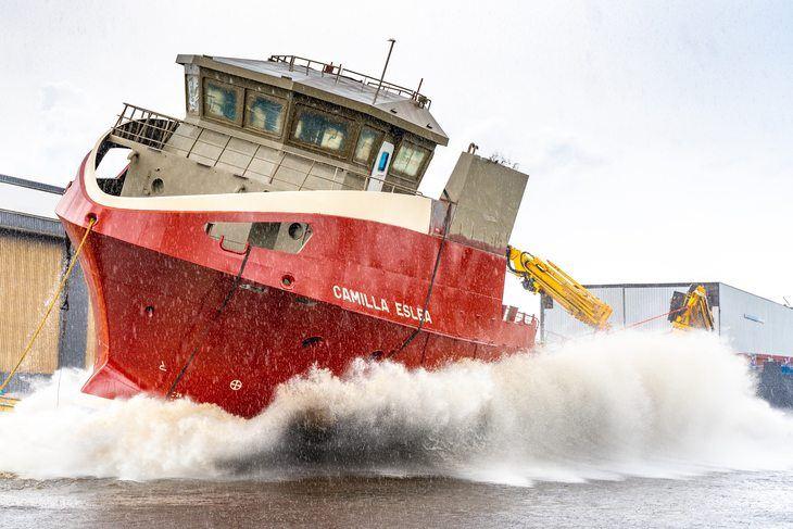 Video: watch Scottish fish farming's newest vessel make waves
