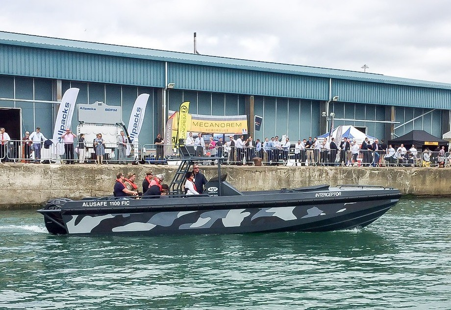 Alusafe 1100 FIC (Fast Interceptor Craft) from Norwegian company Maritime Partner AS at Seawork 2015. Photo Nils I. Myklebust