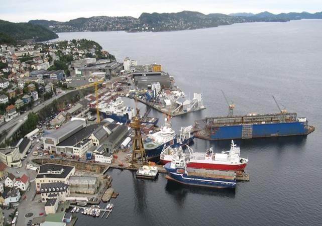 Noryards BMV sitt anlegg i Bergen.