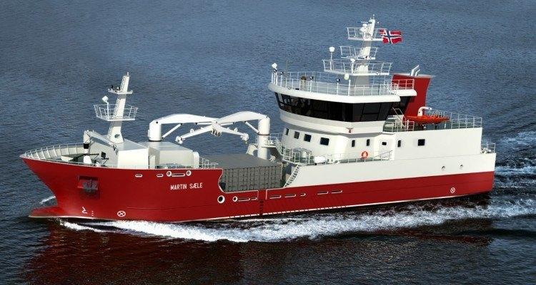 Brønnbåten Martin Sæle skal leveres til Grieg Seafood Shetland innen utgangen av året. Illustrasjon: Salmon Star.