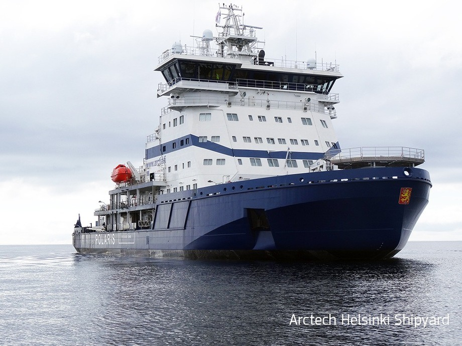 """I/B """"Polaris"""" is Finlands most powerful icebreaker to date."""