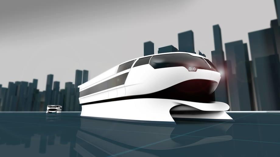 Prosjektet bygger på NCE Maritime CleanTechs konsept for en elektrisk hurtigbåt, Urban Water Shuttle. Dette er startpunktet, og Stavanger-båten kan bli annerledes.  Illustrasjon: NCE Maritime CleanTech