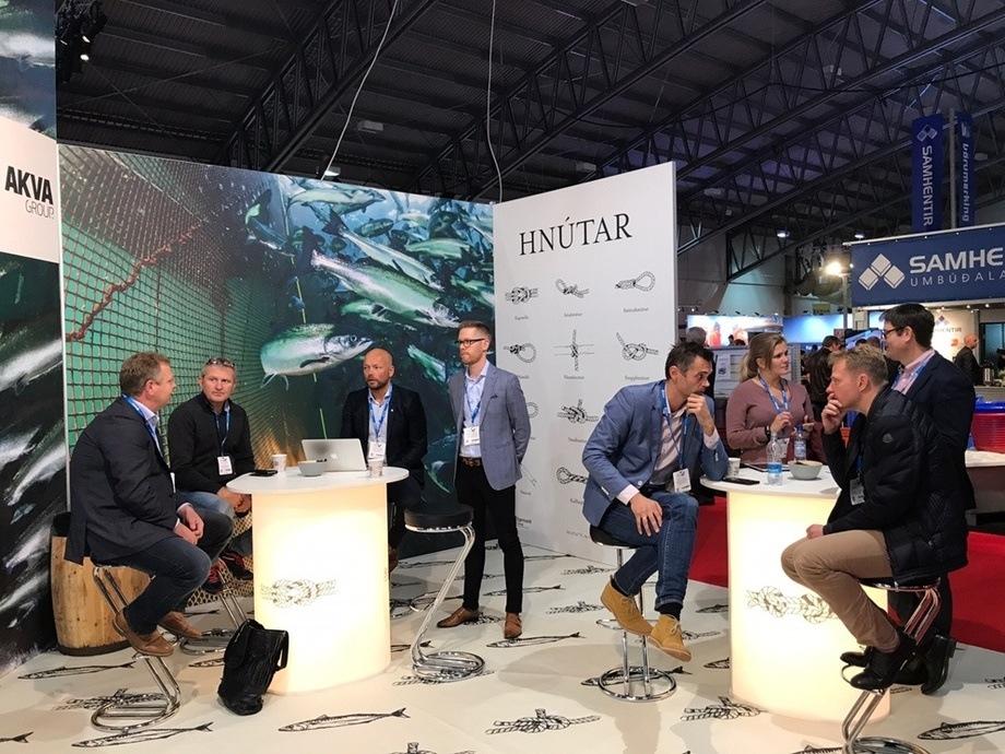 Standen til AKVA Group og Egersund Island fikk pris for beste stand under messen i år. Foto: AKVA Group