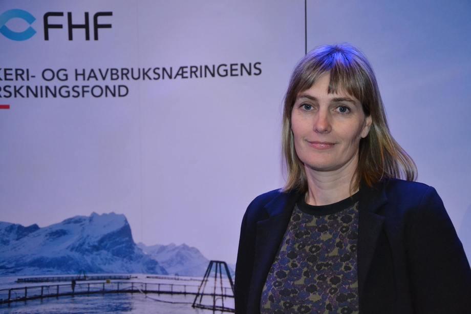 Marianne Halse fra Salmar under FHF sin lusekonferanse 2018. Foto: Linn Therese Skår Hosteland