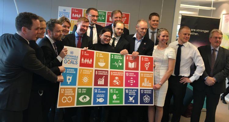 Under lansering av FN-handlingsplattformen, kalt «Business Action Platform for Oceans».