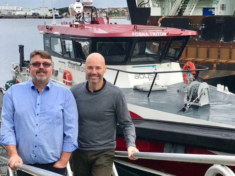 Daglig leder i Abyss Aqua, Øyvind Kjønhaug og daglig leder i Abyss Group Victor Jensen. Foto:  Abyss Aqua