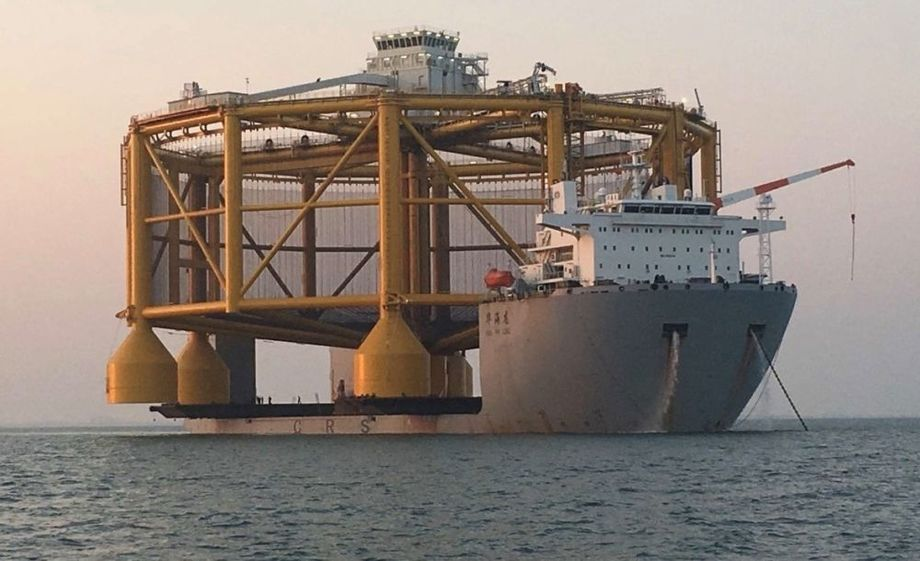 Ocean Farm 1 on its way from China to Norway. Photo: SalMar.