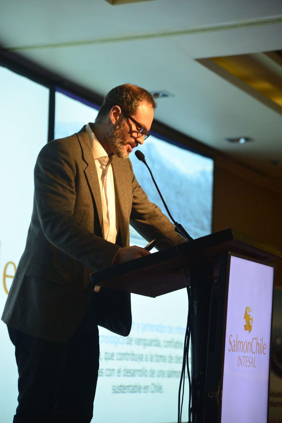 Alfredo Tello, gerente general de Intesal. Foto: Salmonchile.