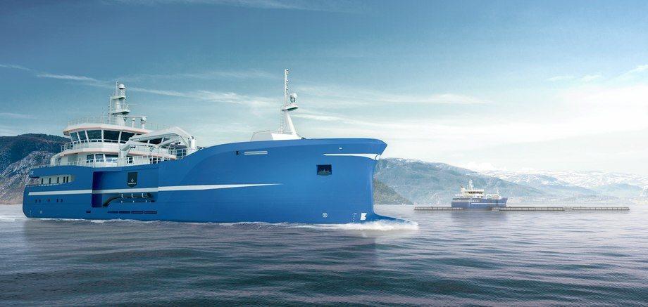 Illustrasjonsbilde av bløggefartøyet Aqua Merdø. Foto: Salt Ship Design.