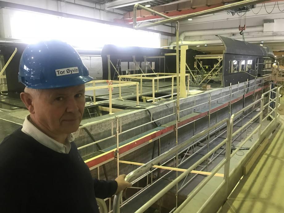 -Her bygges en av de nye karbonfiberfartøyene til Kina, sier administrerende direktør i Brødrene Aa Tor Øivin Aa.