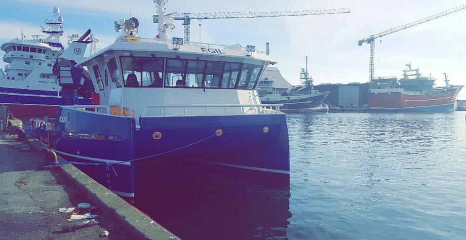 <p>MS Egil klar for seglas fra Polen til Noreg. Foto: Endre Legland/Bolaks.</p>