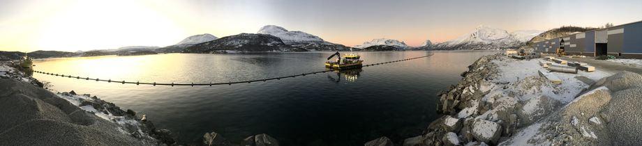 Salangfisk sitt nye anlegg på på Salangsverket. Foto: Salangfisk.