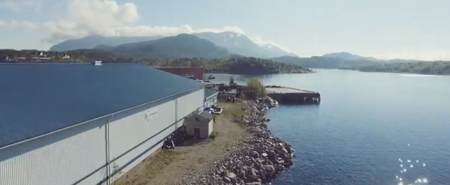 Anlegget til Lumarine ligger i Tømmervåg. Foto: skjermdump av Lumarine video.