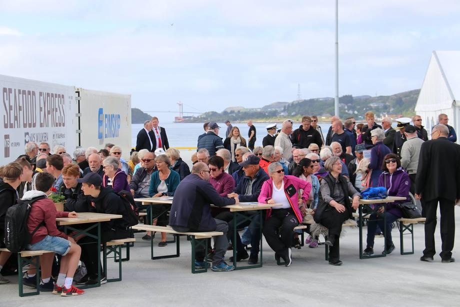 <p>Nord-Trøndelag Havn Rørvik hadde troddog håpet på 300 oppmøtte publikummere, men det kom hele 500 på åpninga av Kråkøya kysthavn. Foto:Nord-Trøndelag Havn Rørvik IKS.</p>