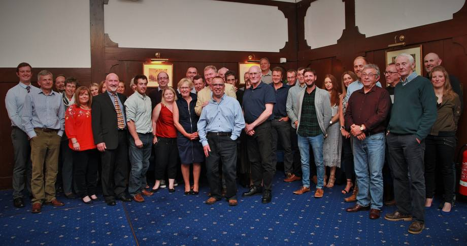 Colleagues from past and present attended a dinner in Kidd's honour in Oban. Photo: SSF