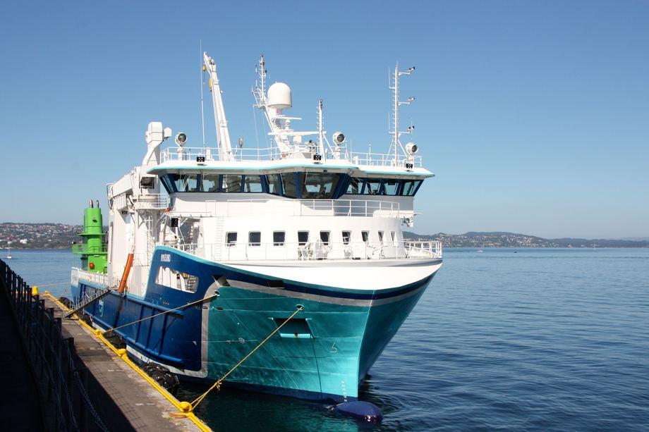 <p>Fart&oslash;yet er designet av NSK Ship Design i Harstad. Foto: Andrea B&aelig;rland</p>