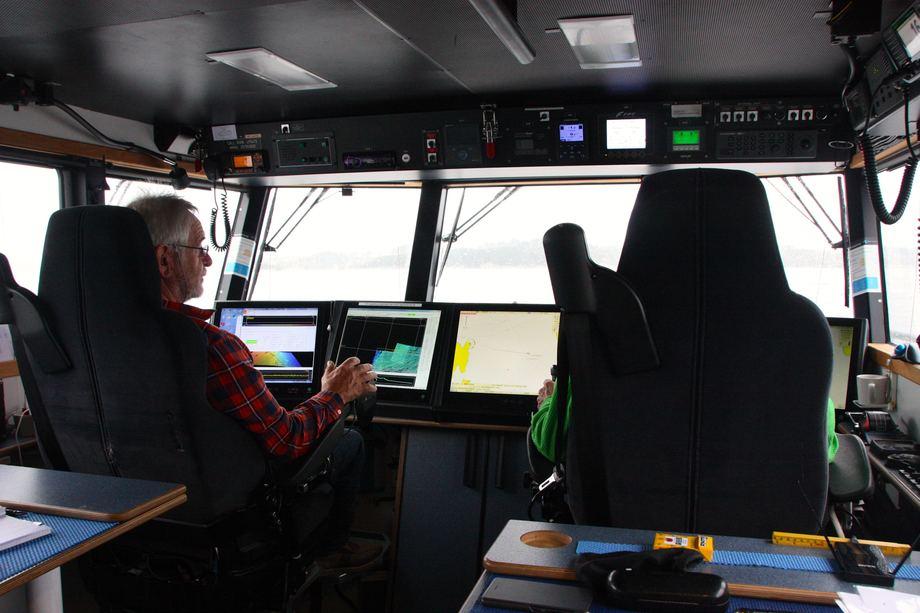 <p>Vallestad og Hansen tilbringer 12 timer om dagen, syv dager i uken side om side i«Anda». Foto: Andrea Bærland</p>
