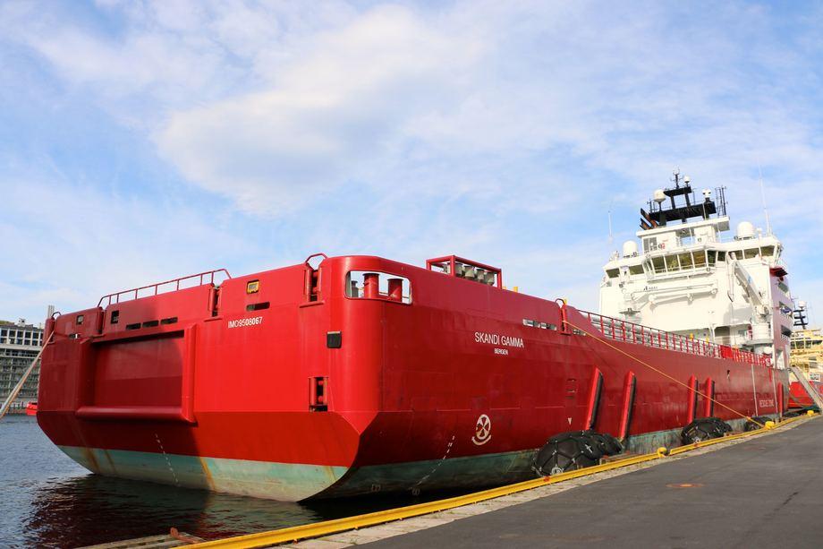 <p>«Skandi Gamma» ble levert fra Vard Søviknes i 2011. Foto: Andrea Bærland</p>