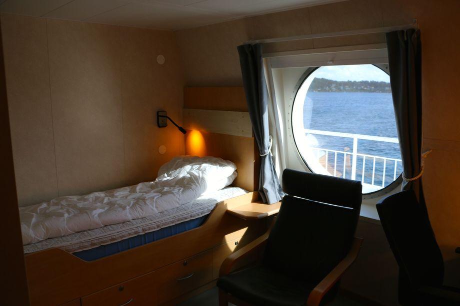 <p>Mannskapet bor om bord fem dager av gangen, i to ukers turnuser. Foto: Andrea Bærland</p>