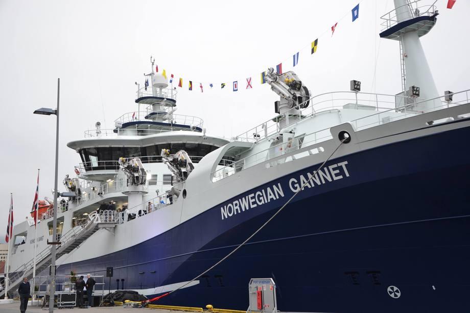 <p>Norwegian Gannet er bygget i Spania og kan frakte 1000 tonn fisk. Båten er 94 meter lang og 18 meter bred. Båtener utrustet med den mest moderne teknologien tilgjengeligpå markedet.</p>
