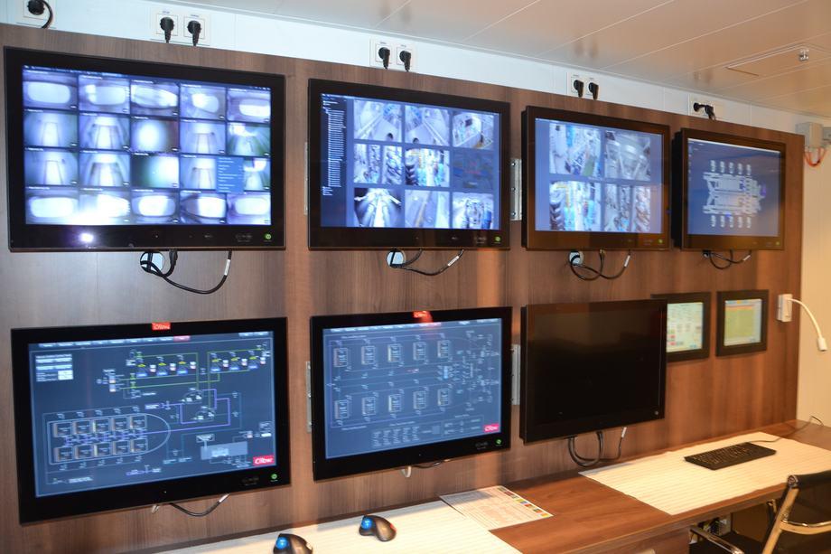<p>Her ser du kontrollrommet der du har oversikt over alle operasjonene om bord.</p>