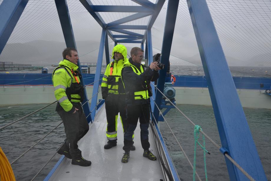 <p>Driftsleder Håvard Horn, prosjektleder Steingrim Holm og Eystein Fiksum fra kommunikasjonsbyråetPKOM. Foto: Ole Andreas Drønen</p>