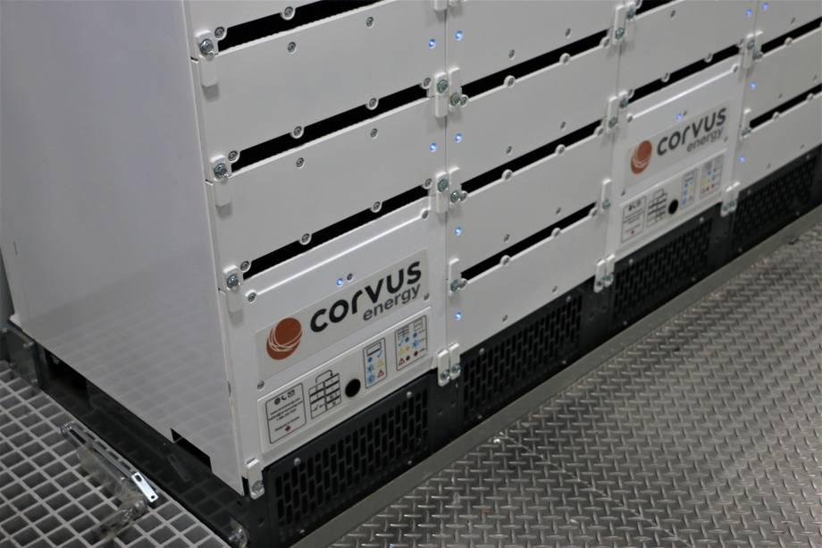 <p>Batteripakkene er levert av Corvus</p>