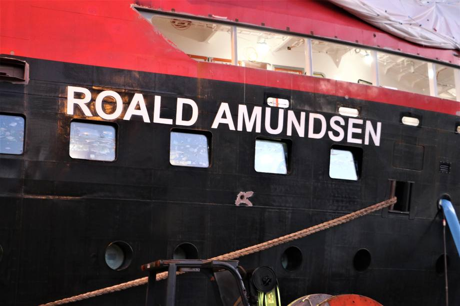 <p>Det er rundt seks måneder til«Roald Amundsen» skal ut på sin jomfrutur</p>