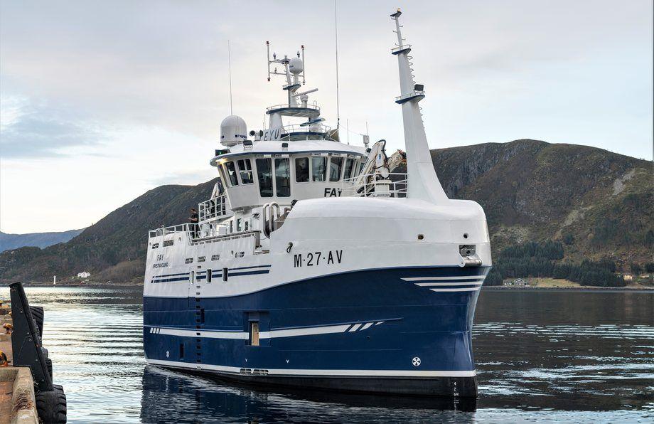 MS Fay ble levert i november 2018. Foto: Stadyard