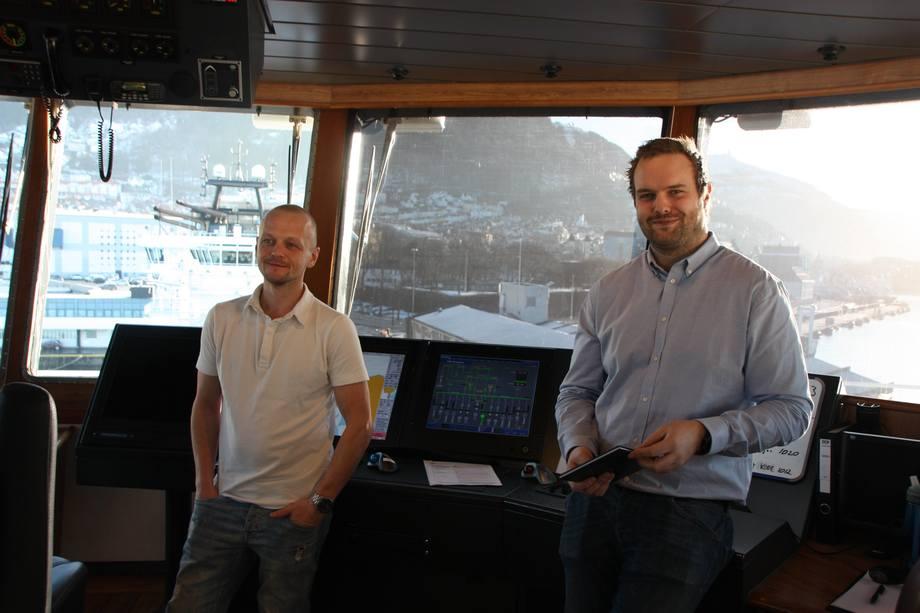 <p>Atle Borgen og &Oslash;ystein Osvoll, begge styrmenn.</p>