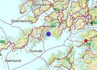 Kartutsnitt av lokalitetene i Øst-Lofoten. Kilde: Fiskeridirektoratet.