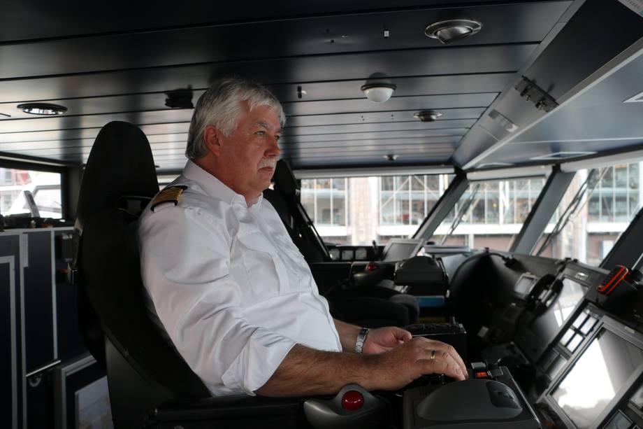 <p>Kaptein Arild Agasøster. Foto: Vibeke Blich</p>
