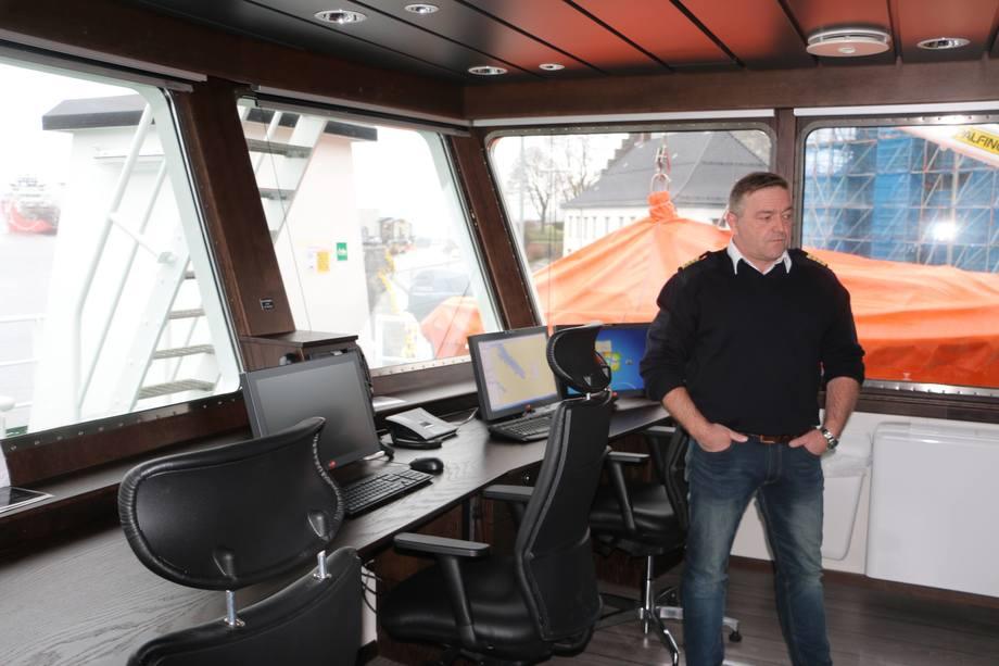<p>Kaptein om bord er Werner Grov Foto: Helge Martin Markussen</p>