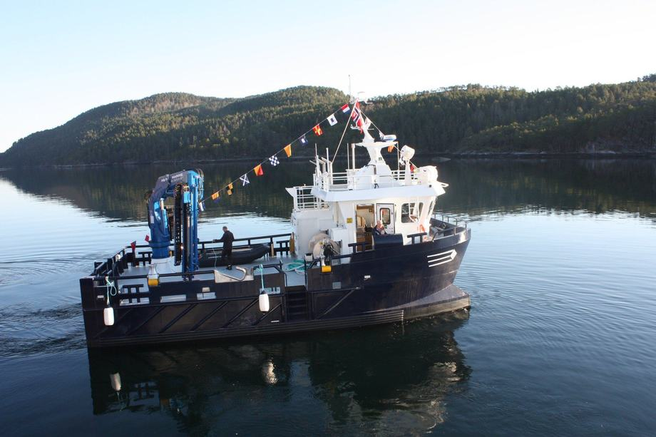 <p>«Flatvær» erer en arbeidsbåt i aluminium på 13,3 x 7 meter. Foto: Sletta Verft</p>