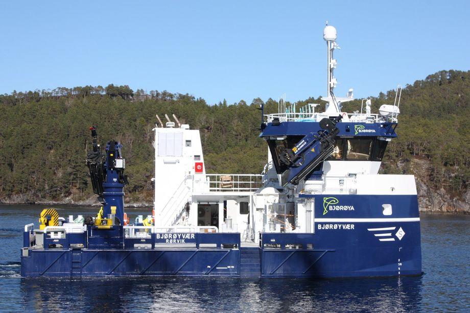 <p>«Bjørøyvær» ble også overlevert i går fra Sletta Verft. Foto: Sletta Verft</p>